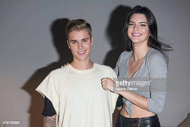 Justin Bieber and Kendall Jenner pose backstage at the Calvin Klein Jeans music event with special appearance from Justin Bieber and performances by...