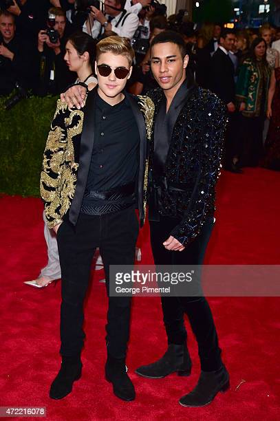 Justin Bieber and Olivier Rousteing attend the 'China Through The Looking Glass' Costume Institute Benefit Gala at Metropolitan Museum of Art on May...