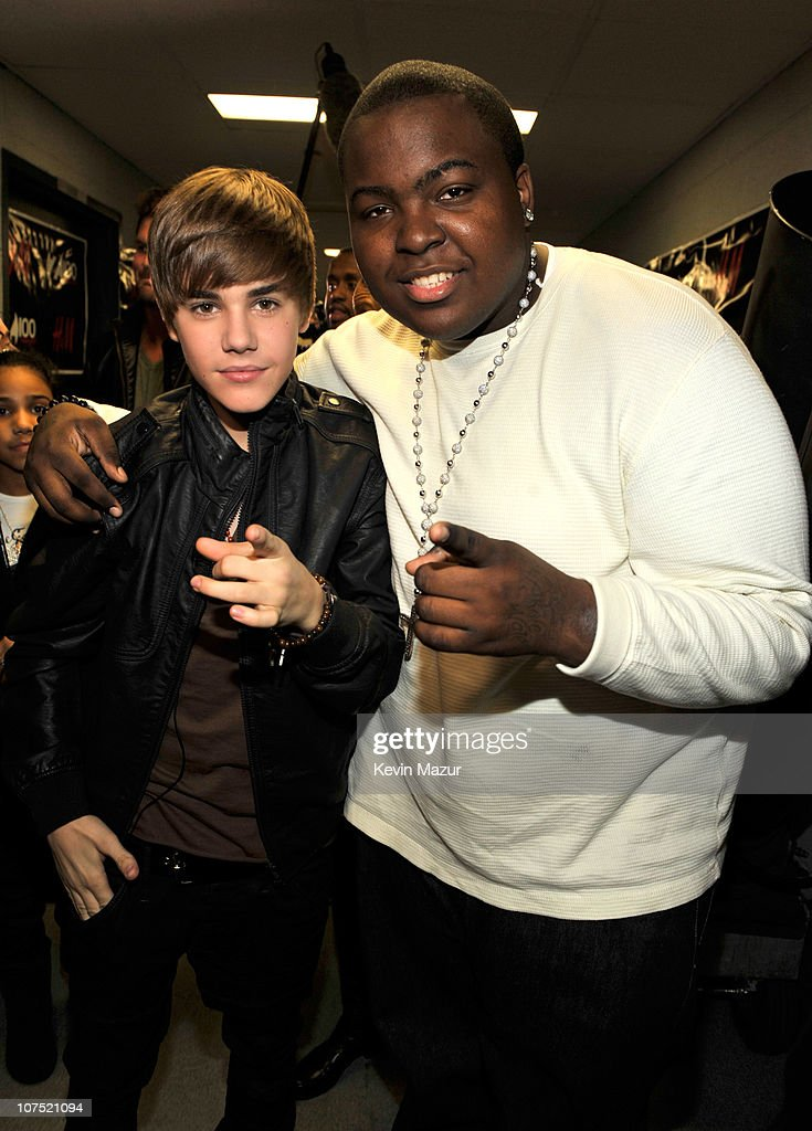 Justin Bieber and Sean Kingston attends Z100's Jingle Ball 2010 presented by HM at Madison Square Garden on December 10 2010 in New York City