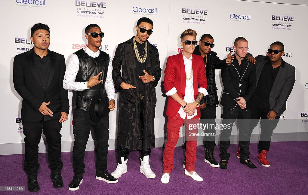 Justin Bieber arrives at the 'Justin Bieber's Believe' World Premiere at Regal Cinemas L.A. Live on December 18, 2013 in Los Angeles, California.