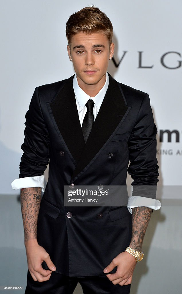 <a gi-track='captionPersonalityLinkClicked' href=/galleries/search?phrase=Justin+Bieber&family=editorial&specificpeople=5780923 ng-click='$event.stopPropagation()'>Justin Bieber</a> attends amfAR's 21st Cinema Against AIDS Gala, Presented By WORLDVIEW, BOLD FILMS, And BVLGARI at the 67th Annual Cannes Film Festival on May 22, 2014 in Cap d'Antibes, France.