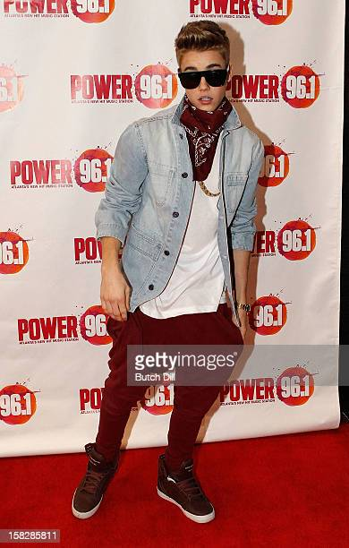 Justin Bieber attends Power 961's Jingle Ball 2012 at the Philips Arena on December 12 2012 in Atlanta