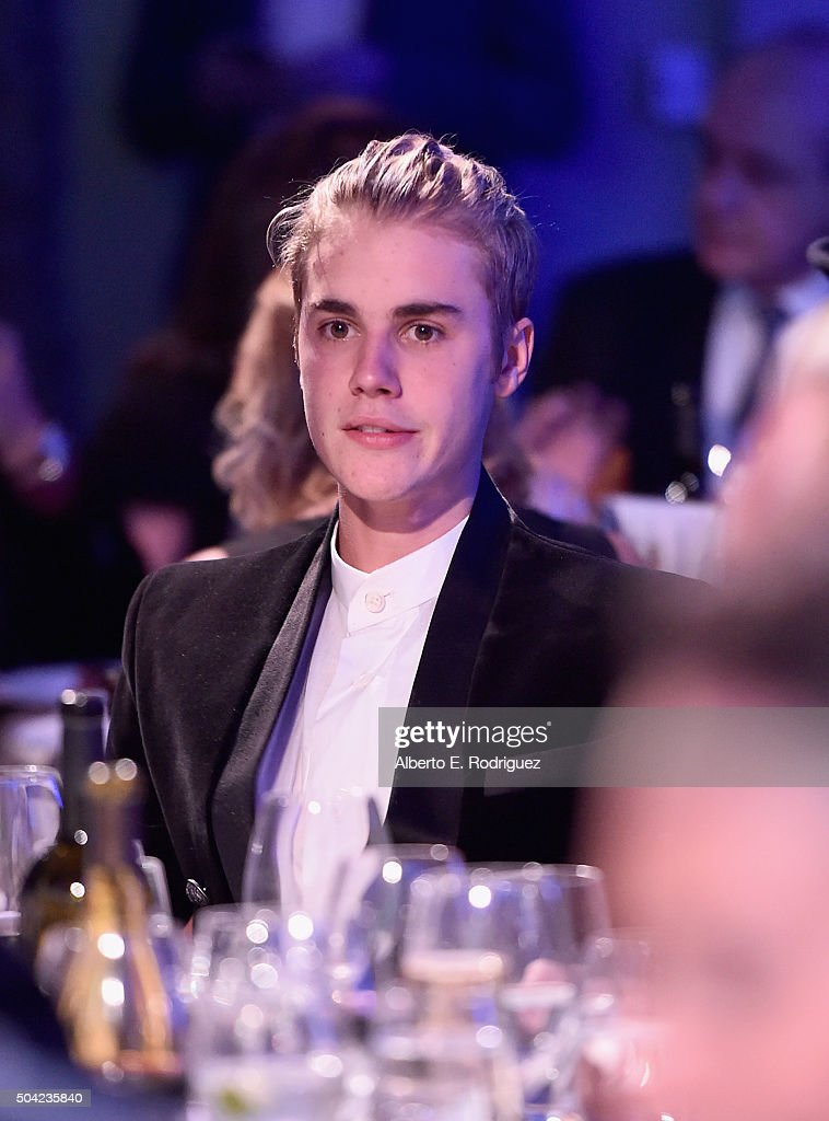 Justin Bieber attends the 5th Annual Sean Penn & Friends HELP HAITI HOME Gala Benefiting J/P Haitian Relief Organization at Montage Hotel on January 9, 2016 in Beverly Hills, California.
