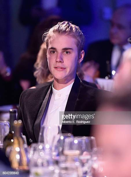 Justin Bieber attends the 5th Annual Sean Penn Friends HELP HAITI HOME Gala Benefiting J/P Haitian Relief Organization at Montage Hotel on January 9...