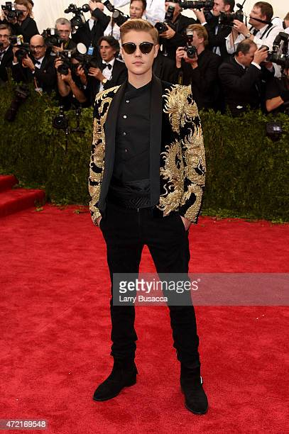 Justin Bieber attends the 'China Through The Looking Glass' Costume Institute Benefit Gala at the Metropolitan Museum of Art on May 4 2015 in New...