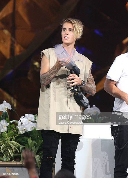 Justin Bieber attends 'The Ellen DeGeneres Show' Season 13 BiCoastal Premiere at Rockefeller Center on September 8 2015 in New York City