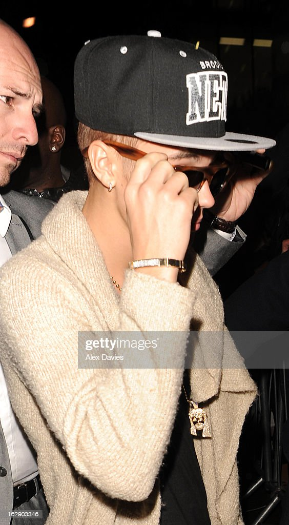 Justin Bieber Celebrates turning 19 with his rumored girlfriend Ella Paige Roberts till 6.30am at BLC club on February 28, 2013 in London, England.