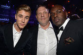 Justin Bieber Harvey Weinstein and Corey Gamble attend amfAR's 21st Cinema Against AIDS Gala Presented By WORLDVIEW BOLD FILMS And BVLGARI at Hotel...