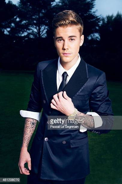 Justin Bieber is photographed at AmfAR's 21st Cinema Against AIDS Gala for AmfAR on May 22 2014 in Cap d'Antibes France