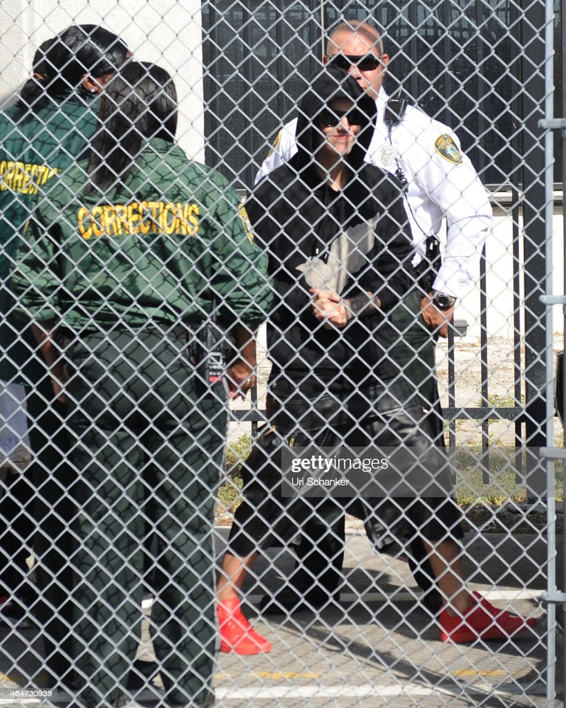 Justin Bieber is released from the Turner Guilford Knight Correctional Center after he was arrested for DUI and resisting arrest on January 23, 2014 in Miami Beach, Florida.