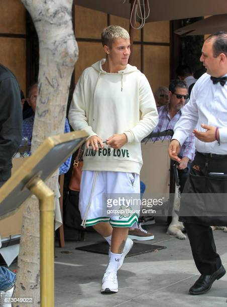 Justin Bieber is seen on April 25 2017 in Los Angeles California