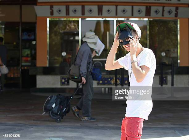 Justin Bieber is seen on July 23 2012 in Los Angeles California