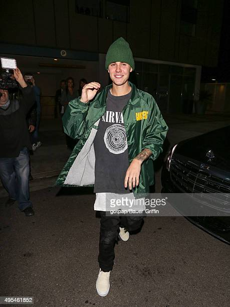 Justin Bieber is seen on November 02 2015 in Los Angeles California