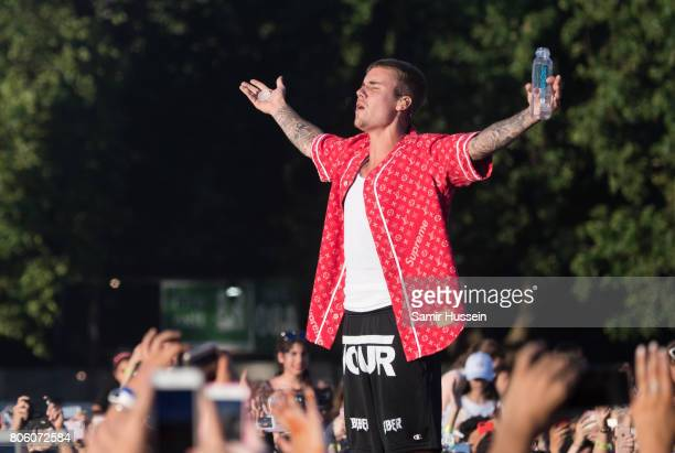 Justin Bieber performs at Hyde Park on July 2 2017 in London England