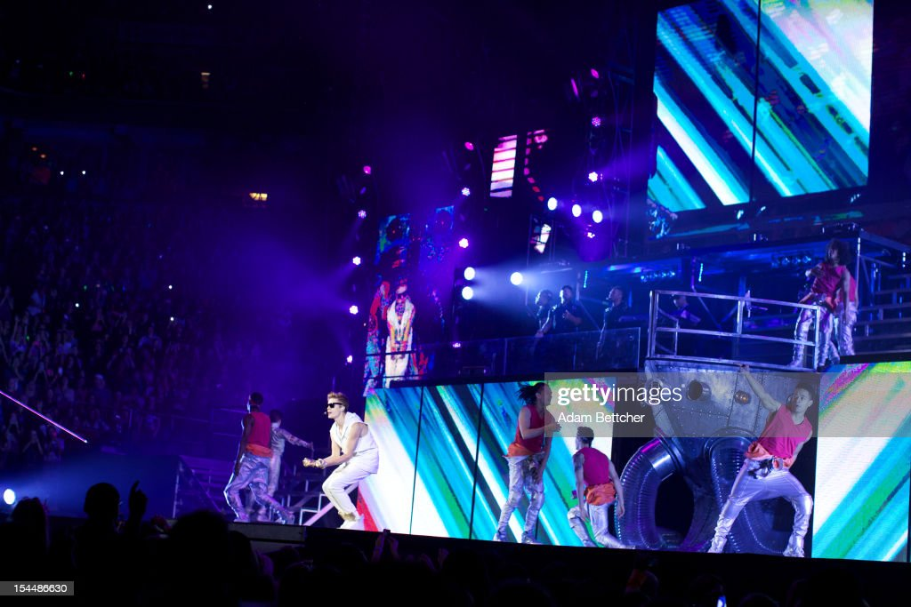 Justin Bieber performs at Target Center on October 20, 2012 in Minneapolis, Minnesota.