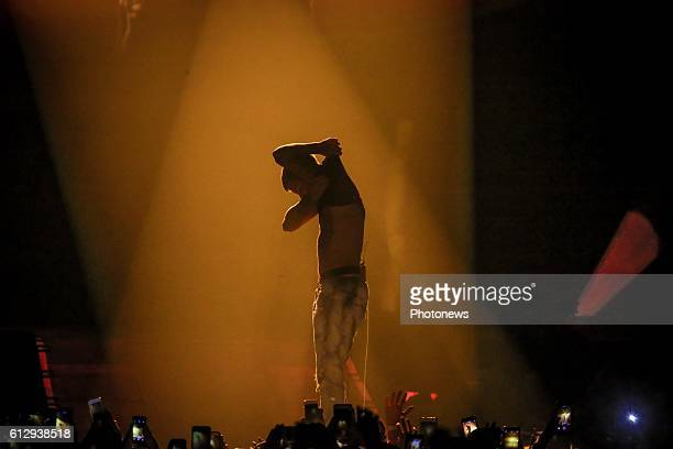 Justin Bieber performs at the Antwerp Sportpaleis during his Purpose World Tour on October 05 2016 in Antwerp Belgium 5/10/2016