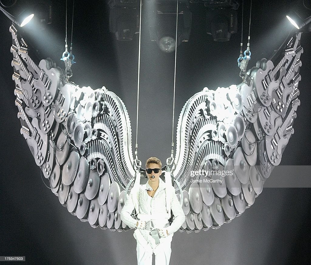 Justin Bieber performs at the Barclays Center on August 2, 2013 in the Brooklyn borough of New York, New York.