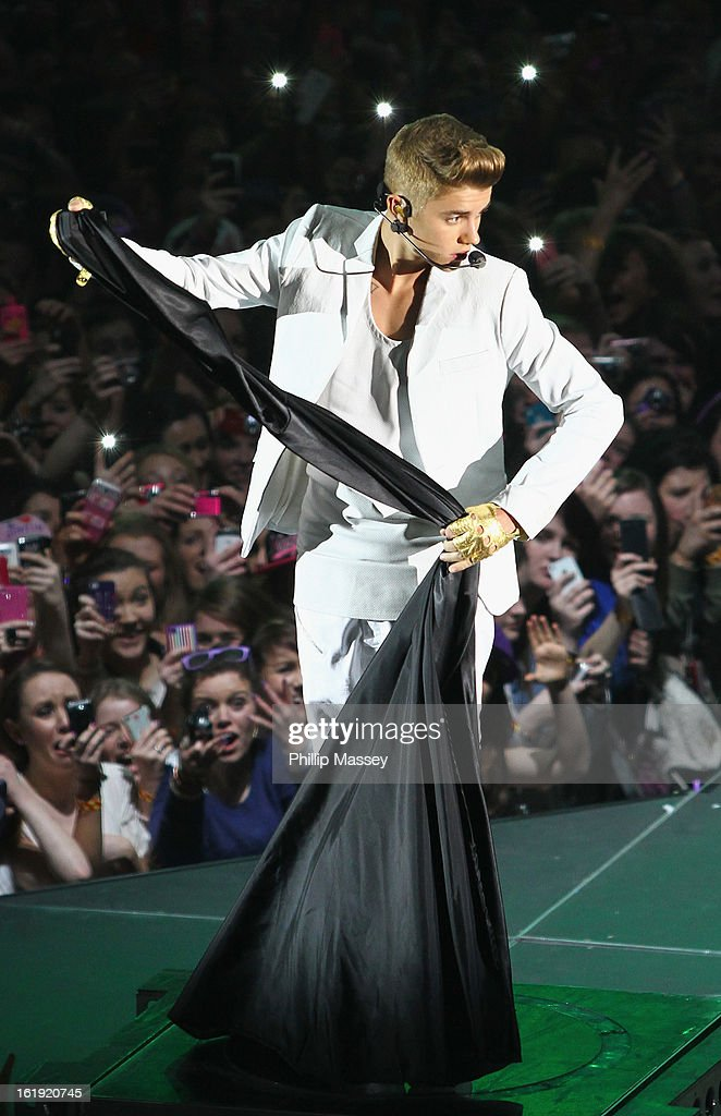 <a gi-track='captionPersonalityLinkClicked' href=/galleries/search?phrase=Justin+Bieber&family=editorial&specificpeople=5780923 ng-click='$event.stopPropagation()'>Justin Bieber</a> performs at the O2 on February 17, 2013 in Dublin, Ireland.