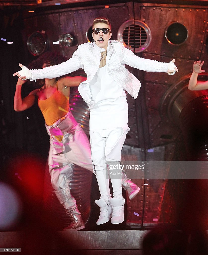 Justin Bieber performs at the Verizon Center on August 3, 2013 in the Washington, DC.