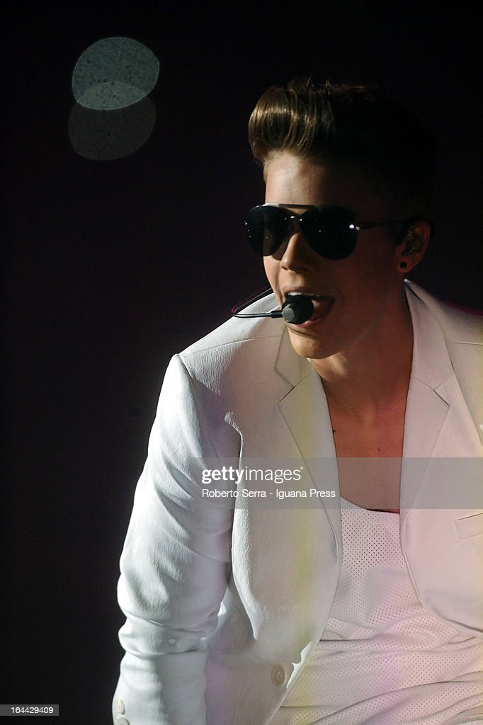 Justin Bieber performs at Unipol Arena on March 23, 2013 in Bologna, Italy.