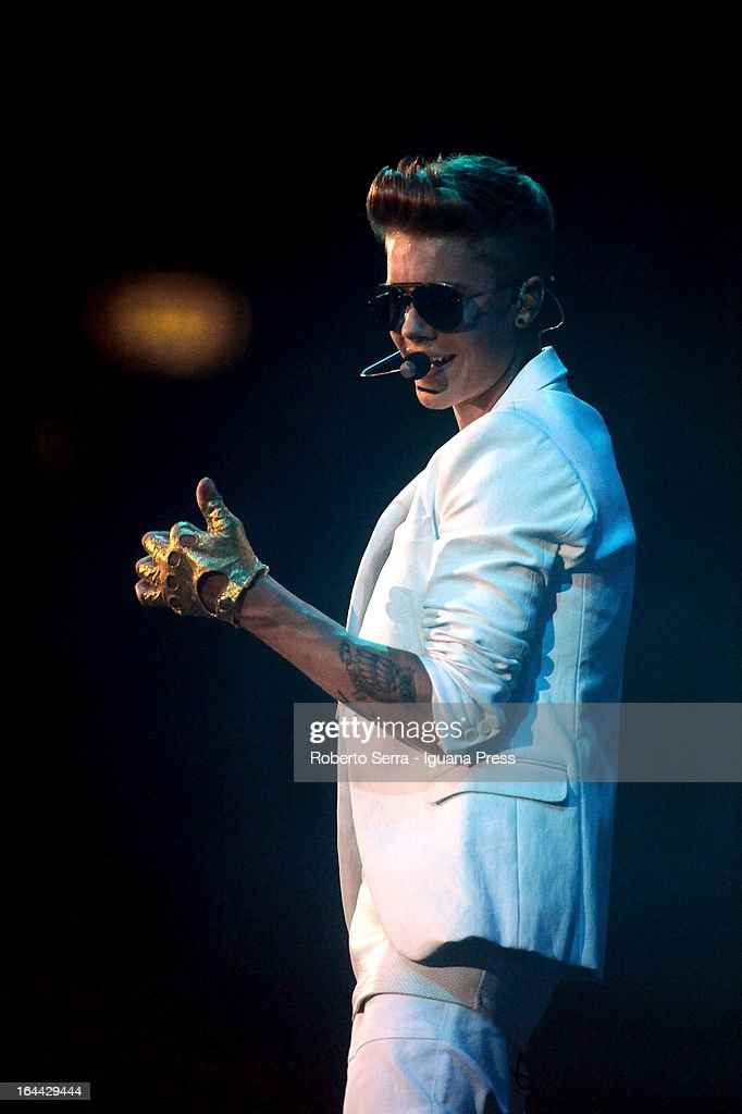 Justin Bieber performs at Unipol Arena on March 23 2013 in Bologna Italy