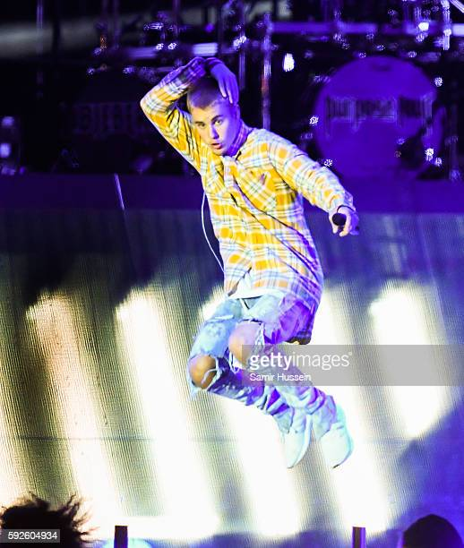 Justin Bieber performs at V Festival at Hylands Park on August 20 2016 in Chelmsford England