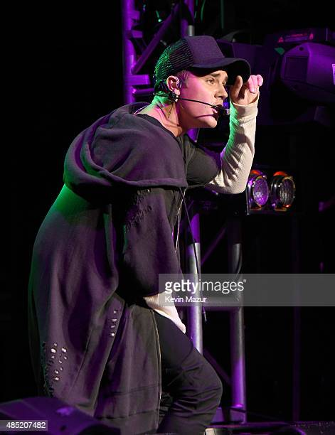 Justin Bieber performs onstage during Billboard Hot 100 Festival at Nikon at Jones Beach Theater on August 23 2015 in Wantagh New York