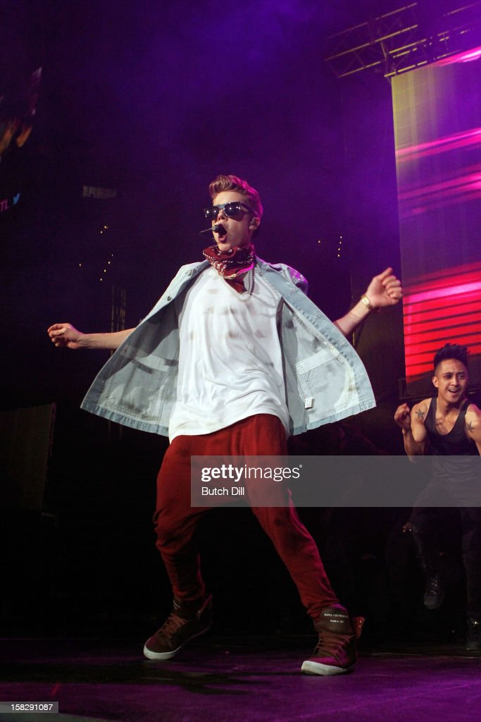 Justin Bieber performs onstage during Power 961's Jingle Ball 2012 at the Philips Arena on December 12 2012 in Atlanta