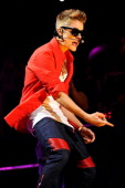 Justin Bieber performs onstage during Z100's Jingle Ball 2012 presented by Aeropostale at Madison Square Garden on December 7 2012 in New York City