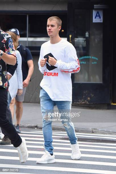 Justin Bieber seen walking in SoHo on May 27 2017 in New York City
