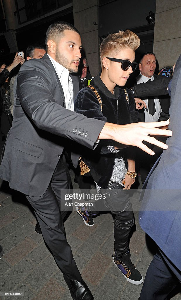 <a gi-track='captionPersonalityLinkClicked' href=/galleries/search?phrase=Justin+Bieber&family=editorial&specificpeople=5780923 ng-click='$event.stopPropagation()'>Justin Bieber</a> sighting at Cirque Du Soir on March 1, 2013 in London, England.