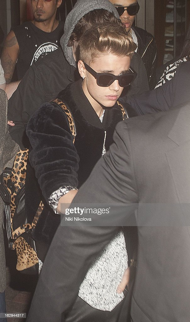 Justin Bieber sighting on March 1, 2013 in London, England.