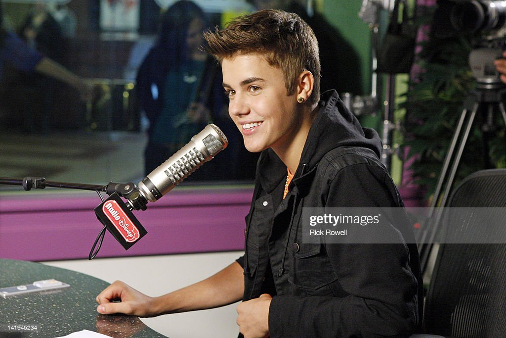 DISNEY - <a gi-track='captionPersonalityLinkClicked' href=/galleries/search?phrase=Justin+Bieber&family=editorial&specificpeople=5780923 ng-click='$event.stopPropagation()'>Justin Bieber</a> stops by Radio Disney to debut his new single 'Boyfriend.' While in studio, he joins Candice to co-host the 'Dot Com Top 3' and records a special 'Celebrity Take' with Jake that airs April 9-13. JUSTIN