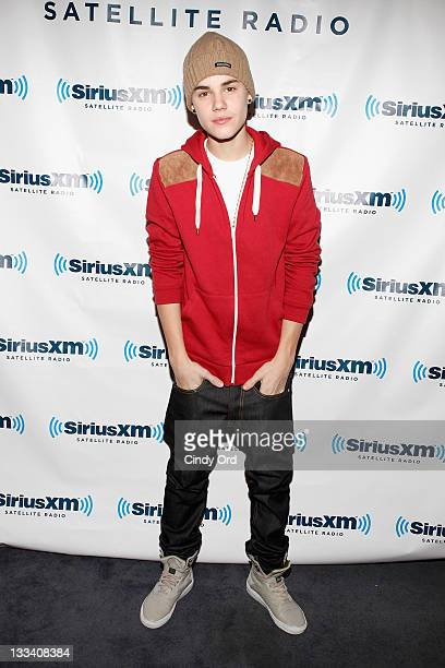 Justin Bieber visits the SiriusXM Studio on November 18 2011 in New York City