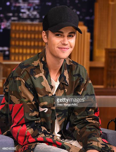 Justin Bieber Visits 'The Tonight Show Starring Jimmy Fallon' at Rockefeller Center on September 2 2015 in New York City