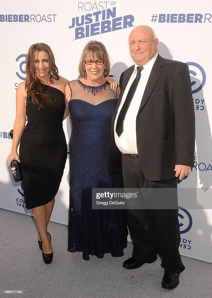 Justin Bieber's mom Pattie Mallette and grandparents arrive at the Comedy Central Roast of Justin Bieber on March 14 2015 in Los Angeles California
