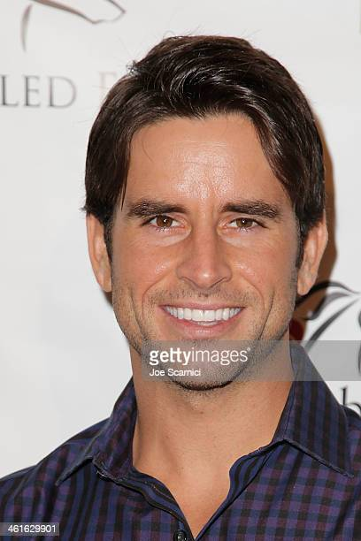 Justin Bird arrives at the 5th Annual Los Angeles Unbridled Eve Derby Prelude Party at The London West Hollywood on January 9 2014 in West Hollywood...