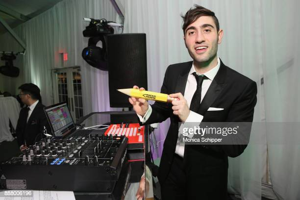 Justin Blau spins at the Pencils of Promise Annual Gala 2017 in Central Park on December 7 2017 in New York City