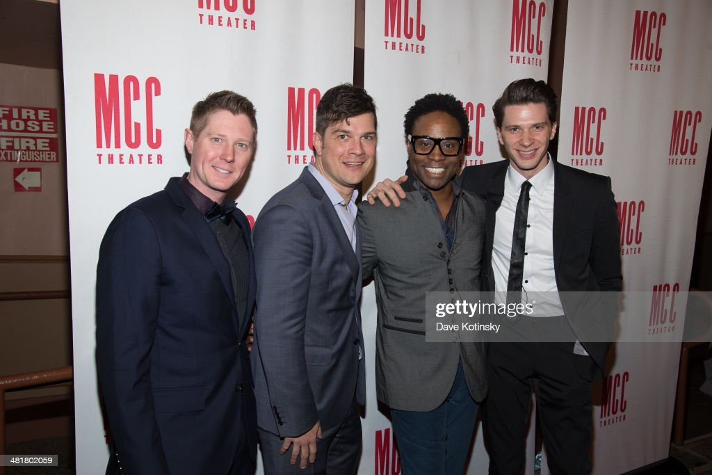 Justin Bohon, Stephen Oremus, Billy Porter and Joey Taranto attend Miscast 2014 at Hammerstein Ballroom on March 31, 2014 in New York City.
