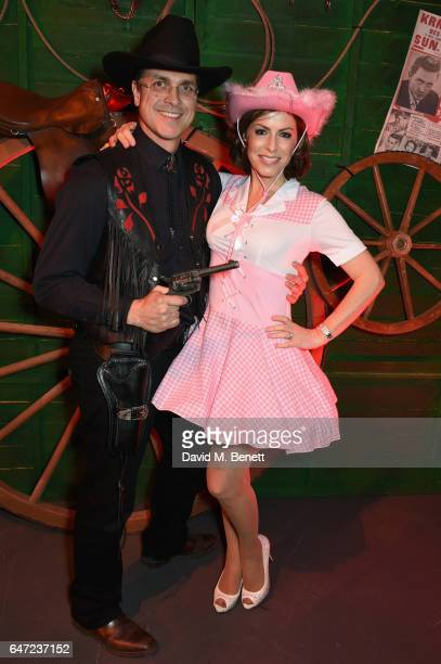 Justin Bower and Natasha Kaplinsky attend at a Night of Country at The Roundhouse on March 2 2017 in London England