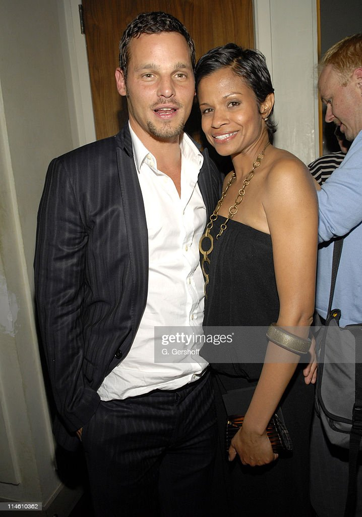 Justin Chambers and guest during The Gersh Agency Celebrates 2006 Television Upfronts at Thom Bar in New York New York United States