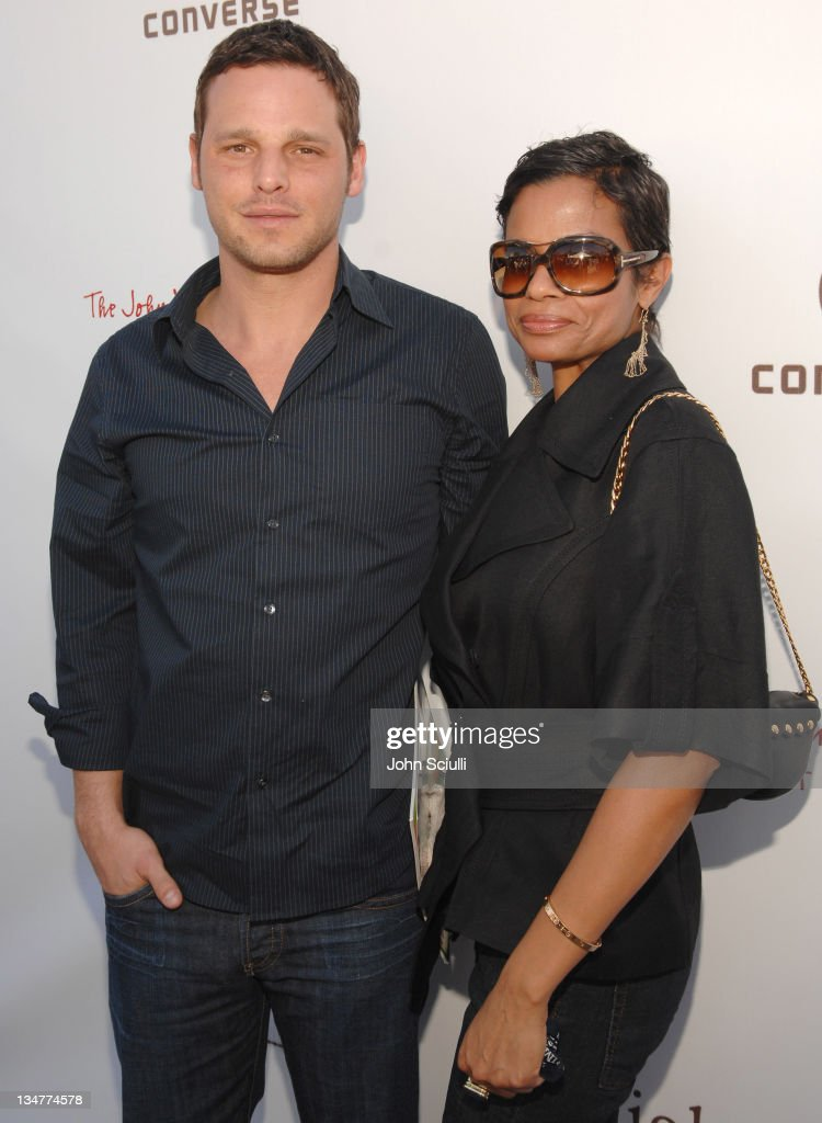 Justin Chambers and Keisha Chambers during 5th Annual John Varvatos Stuart House Benefit Presented by Converse at John Varvatos Boutique in Los...