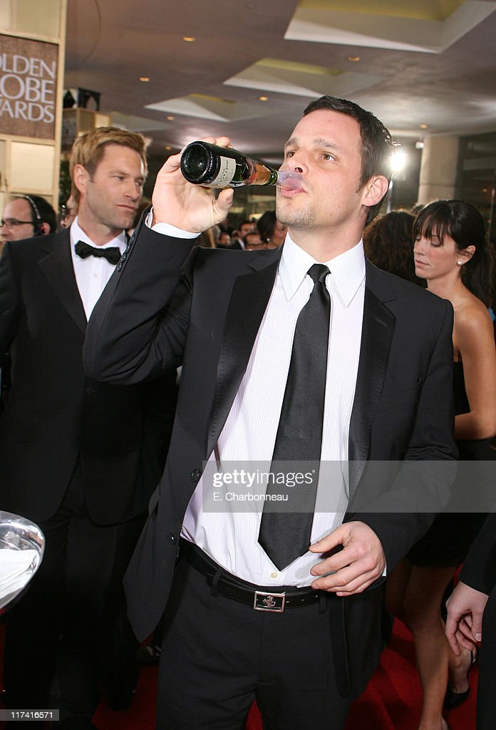 Justin Chambers during Moet Chandon Arrivals at the 64th Annual Golden Globe Awards at Beverly Hilton Hotel in Beverly Hills California United States