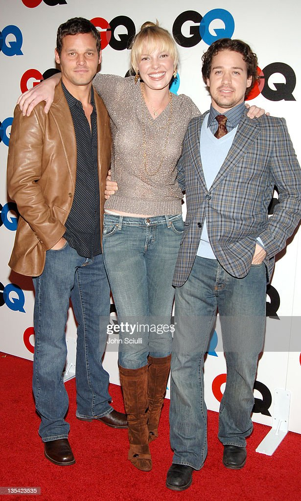 Justin Chambers Katherine Heigl and TR Knight during GQ Magazine Celebrates the 2005 Men of the Year Arrivals at Mr Chow in Beverly Hills California...