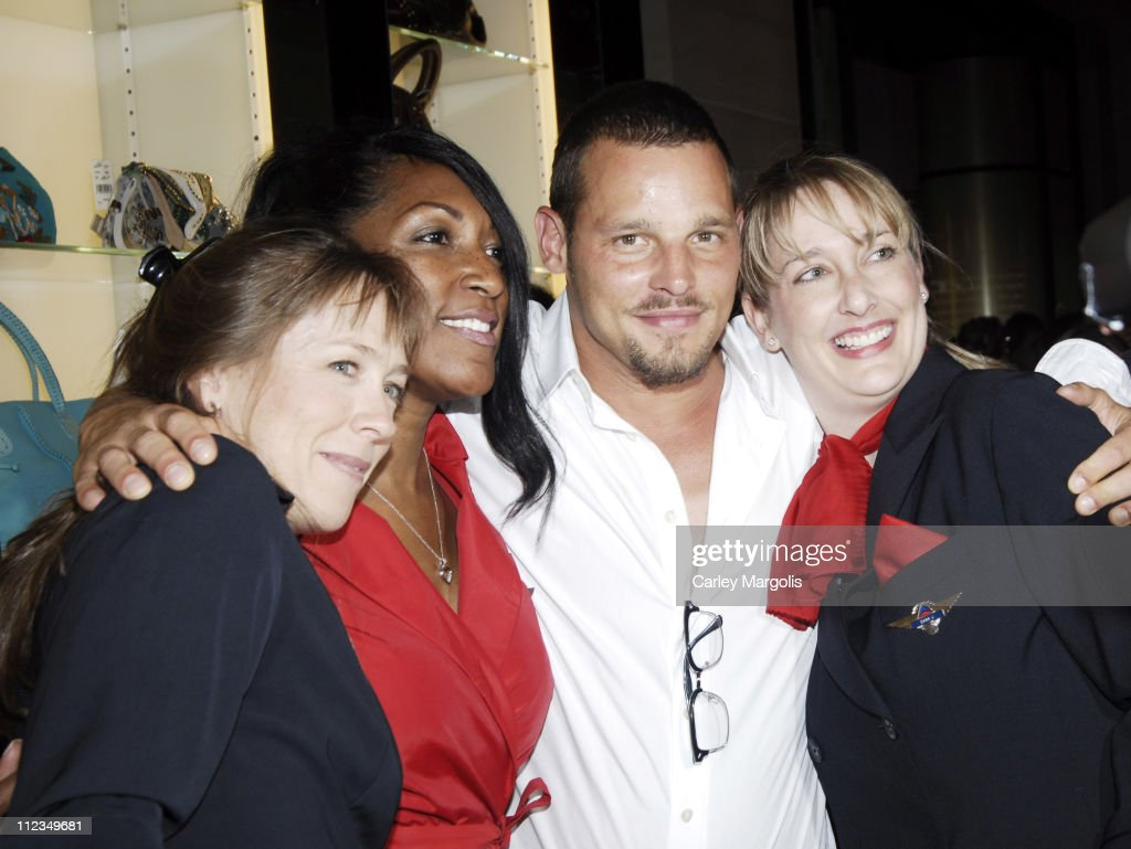Justin Chambers of 'Grey's Anatomy' with Delta Ladies