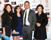 Justin Chang Variety Chief Film Critic and his family attend the Fifth Annual Africian American Film Critics Association Awards at the Taglyan...
