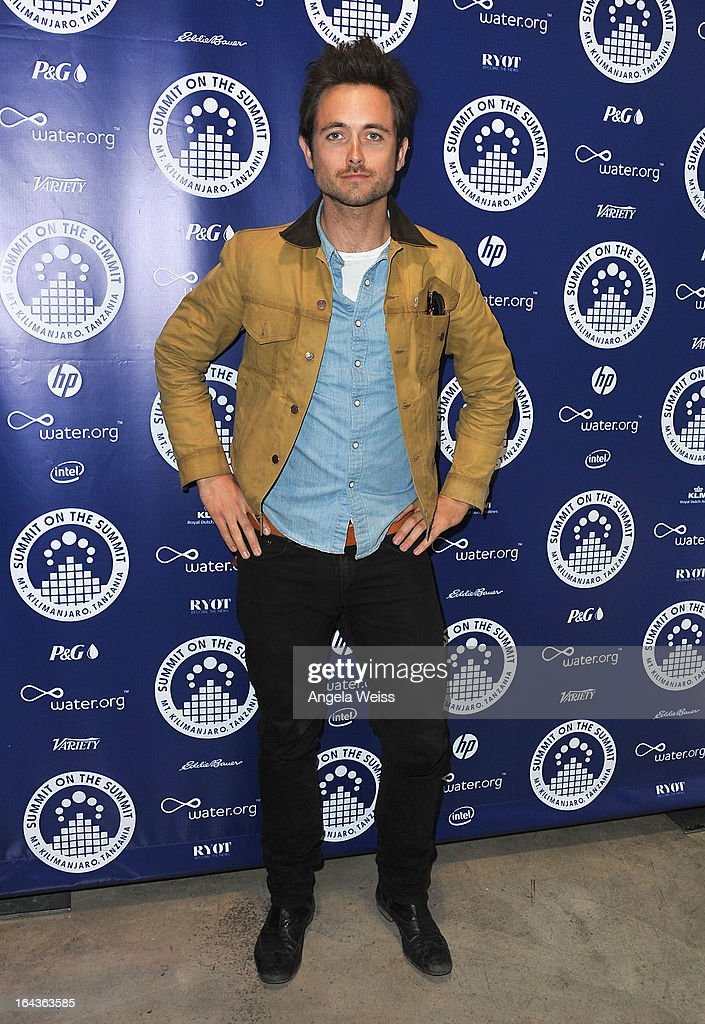 Justin Chatwin arrives at the Summit On The Summit photo exhibition celebrating World Water Day at Siren Studios on March 22, 2013 in Hollywood, California.