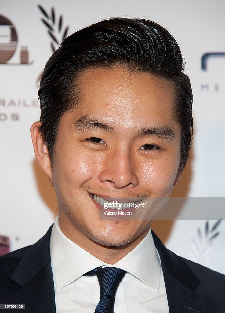<a gi-track='captionPersonalityLinkClicked' href=/galleries/search?phrase=Justin+Chon&family=editorial&specificpeople=630186 ng-click='$event.stopPropagation()'>Justin Chon</a> arrives at the 14th Annual Golden Trailer Award at Saban Theatre on May 3, 2013 in Beverly Hills, California.