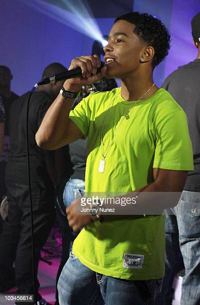 Justin Combs performs at Break N Through Concert Series at Red Bull Space on August 18 2010 in New York New York