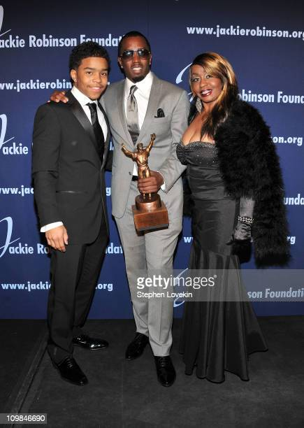 Justin Combs ROBIE Achievement in Industry Award recipient Sean 'Diddy' Combs and Janice Combs attend the 2011 Jackie Robinson Foundation Awards Gala...